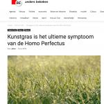 Belg - 14 mei 2018 - Kunstgras is het ultieme syndroom van de homo perfectus - Louis De Jaeger - Commensalist