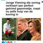 Het Nieuwsblad - 1 mei 2018 - Louis De Jaeger - Commensalist