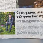 Krant van West-Vlaanderen Brugs Handelsblad - Geen gazon maar ook geen kunstgras - 12 mei 2018 - Louis De Jaeger - Commensalist.jpg 2